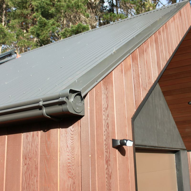Ironsand coloured NZ COLORSTEEL® gutter and roof