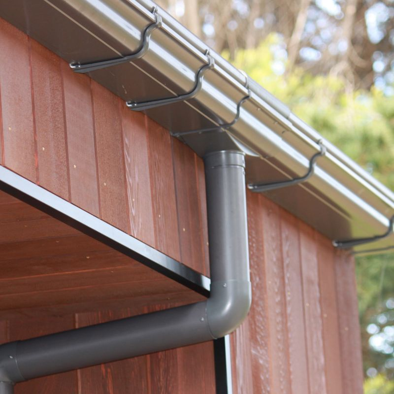 NZ COLORSTEEL® Ironsand coloured downpipes and gutter