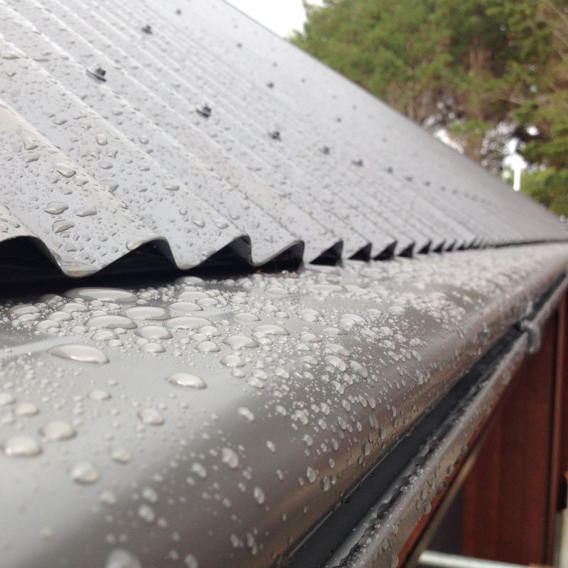 Water Harvesting Gutters and Spouting one piece leaf guard
